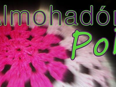 Cómo tejer un almohadón granny circular 3° parte (granny pillow) -tejido para zurdos-