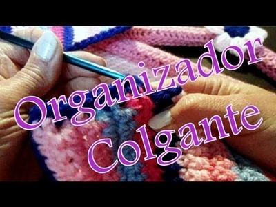Cómo tejer un organizador colgante con bolsillos (hanging organizer) -tejido para zurdos-
