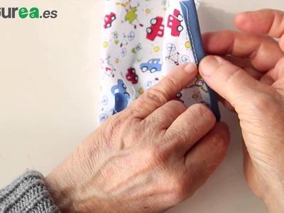 Cómo unir cinta bies a una tela - aprender a coser - costurea