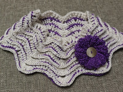Cuello Zig Zag Crochet