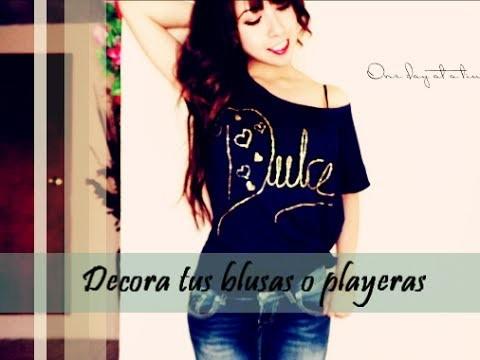 Decora tus blusas y playeras fácil ;)