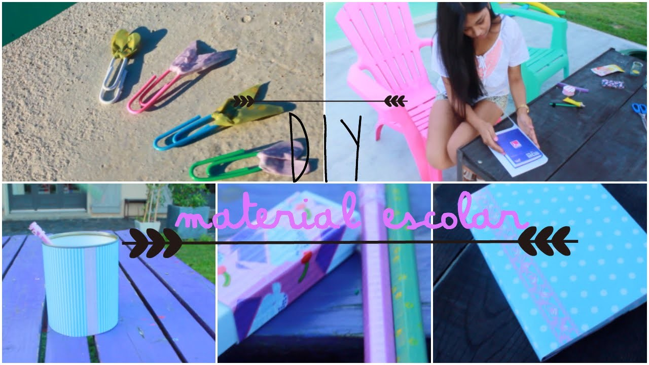 DIY Decora tu material escolar !♡  |PaoDress