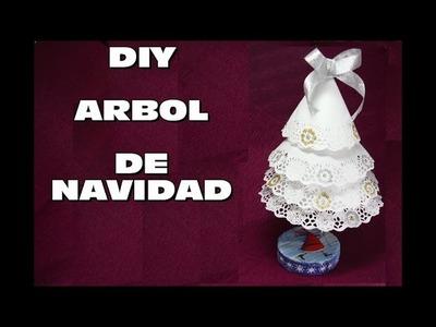 DIY HACER ARBOL DE NAVIDAD RECICLANDO