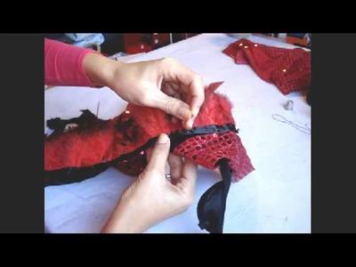 DIY Traje plumas danza oriental   Belly dance feather costume