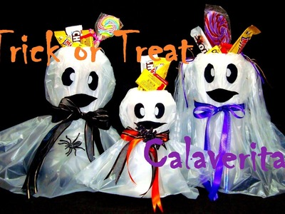 DULCEROS DE FANTASMAS | HALLOWEEN.TRICK OR TREAT | DIY | DIA DE MUERTOS.CALAVERITA - YuureYCrafts