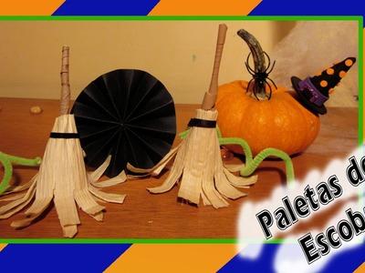 Especial Halloween: Paleta ''Escoba de Bruja