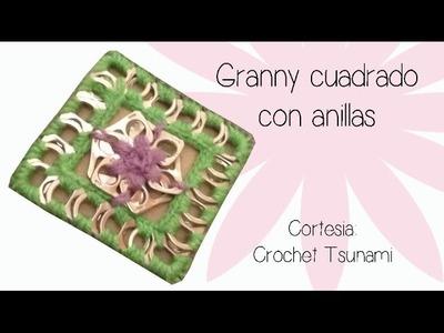 Granny cuadrado con anillas