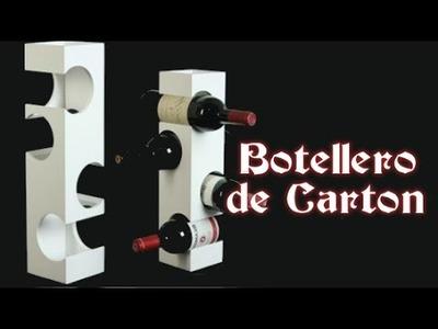 Manualidades con cartón: Botellero reciclando cartón.