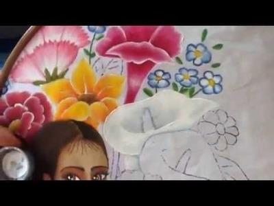 Pintura en tela vendedora de flores # 11 con cony