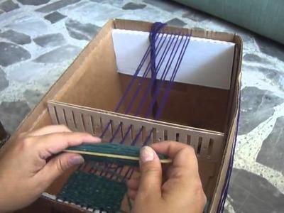 Telar de Peine con Caja de Carton HAZLO TU FACIL Y EFICIENTE