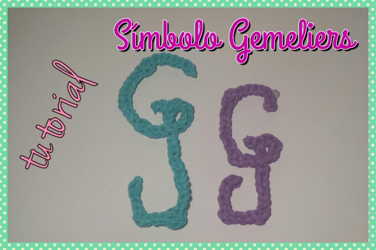 ❤ TUTORIAL: Logo Gemeliers con Gomitas. Ligas. Loom bands ❤