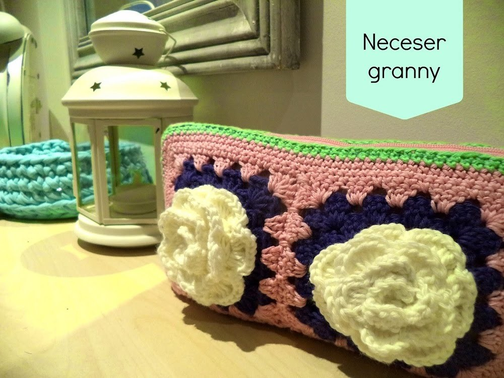 Tutorial neceser granny square