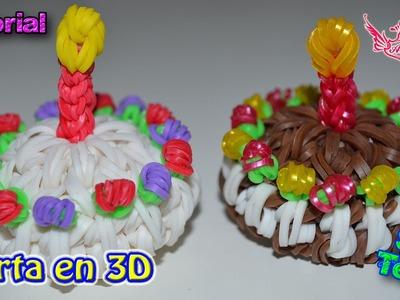 ♥ Tutorial: Tarta o Torta o Pastel en 3D (sin telar) ♥