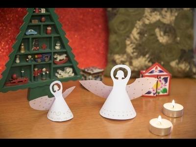 Ángeles de Navidad de papel