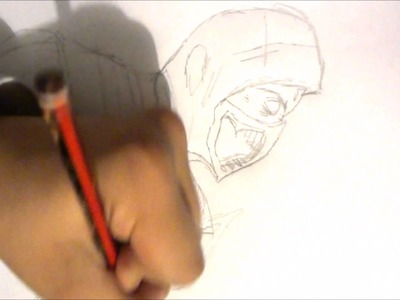 Como dibujar a scorpion mortal kombat x