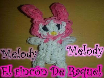 Como hacer a My Melody con gomitas rainbow loom