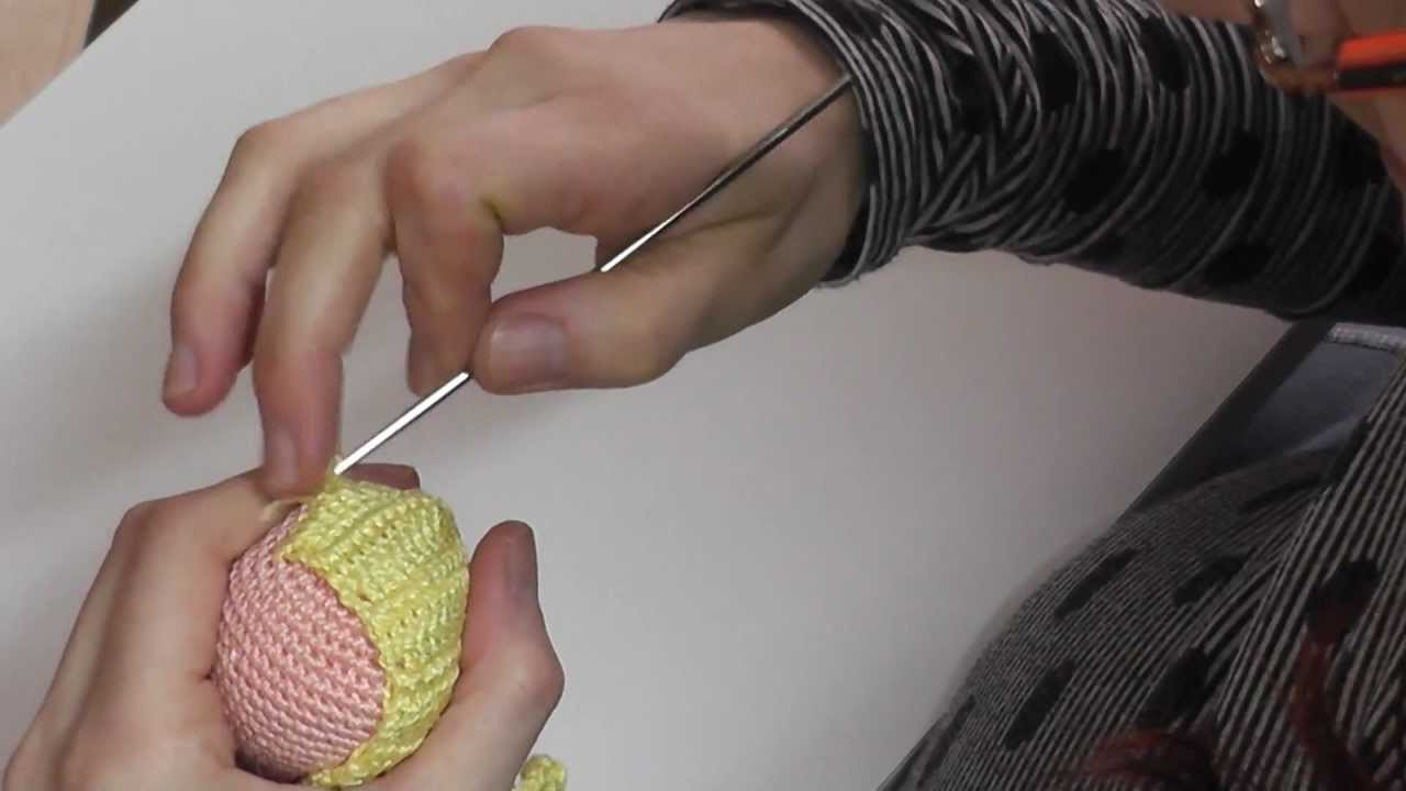 Cómo hacer melena ondulada ganchillo amigurumi parte 4