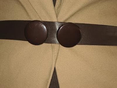 Cómo hacer un cinturón. How to make a belt