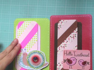 Cómo hacer una tarjeta con Washi Tape.Washi Tape Card