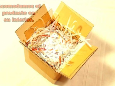Como se hace una caja de cartón, de solapas, para envíos  - Trabajos manuales - Manualidades