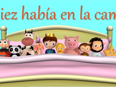 Diez había en la cama - LittleBabyBum Canciones infantiles HD 3D
