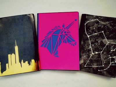 DIY.  Decora tus cuadernos (3 ideas) fácil