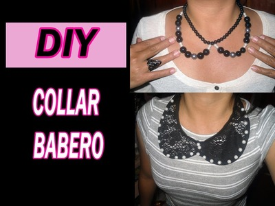 ♥ DIY ♥ Haz tu collar babero fácil ♥