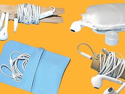 Ideas para organizar los auriculares DIY. Earphone organizers