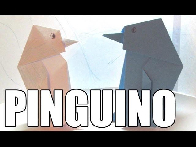 Origami de animales | Como hacer un PINGUINO DE PAPEL paso a paso SUPER FACIL!