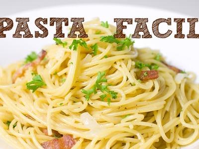 PASTA FACIL SIN HORNO | Espagueti a la carbonara | Como hacer spaguetti | Musas