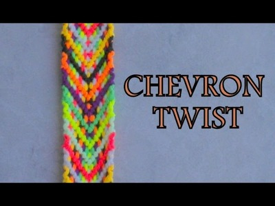 Pulsera de Hilo: Chevron Twist