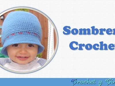 Sombrero – Gorro crochet (ganchillo) verano para niño