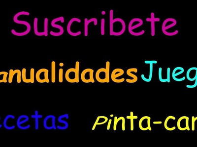 Suscribete a todoinfantil y consigue plantillas(Subscribete to everything the infantile one)