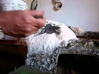 Taludes con papel de cocina y cola blanca