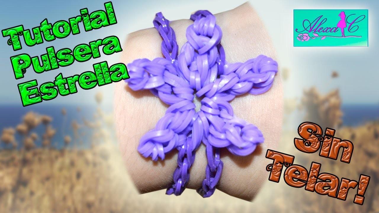 ♥ Tutorial: Pulsera de Estrella de gomitas (sin telar) ♥