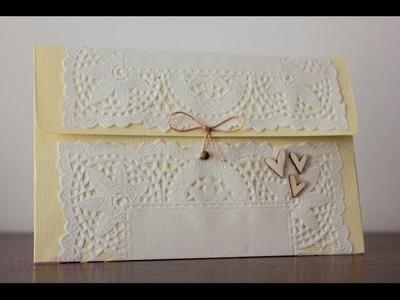 Tutorial: sobre para bodas con un folio y una blonda