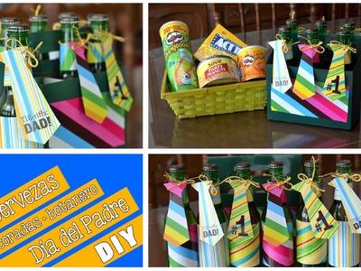 Cervezas decoradas y botanero (DIY) Día del Padre
