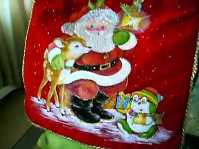 Cojin Navidad Pintura En Tela #59