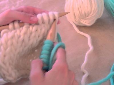 ¿Cómo cambiar los ovillos al hacer punto? -  Aprender a tejer