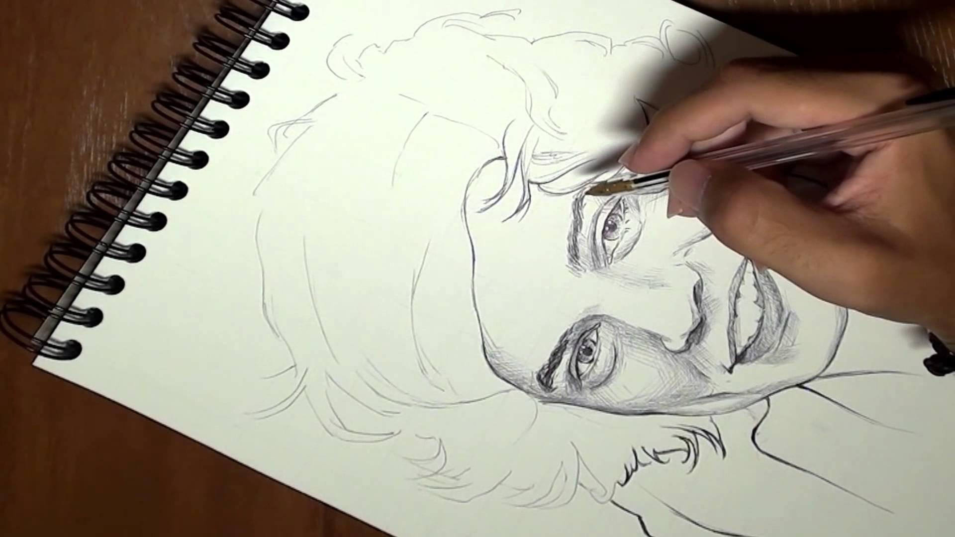 Cómo dibujar a Harry Styles en 3 minutos timelapse (How to draw Harry Styles in 3 minutes)
