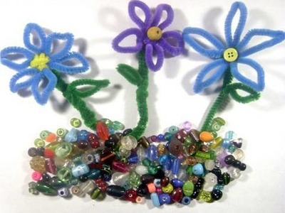 Como hacer  flores de limpia pipas