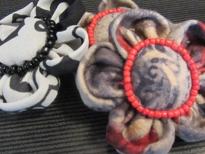 Cómo hacer flores de tela. How to make fabric flowers.