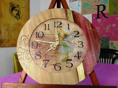 Cómo hacer un reloj con diversos materiales (1ra parte)