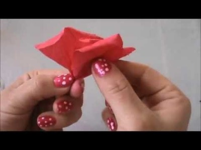 Como Hacer un Rosa En Papel Crepe Que Parezca Real