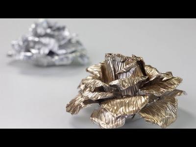 Cómo hacer una rosa de aluminio