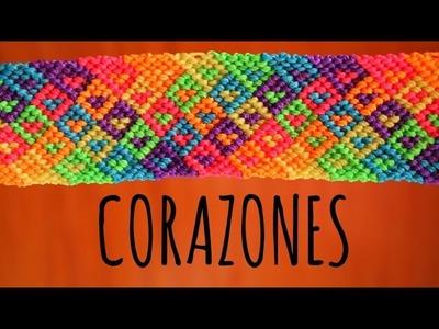 Corazones. Pulseras de macramé ♥
