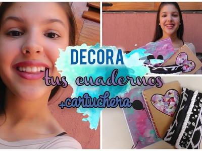 ►Decora tus cuadernos+Cartuchera ft Caro Saldaña