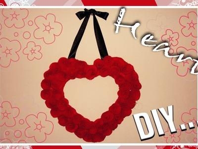 DIY: Adorno de Corazón con Rosas de fieltro ((Decoración San Valentín)))