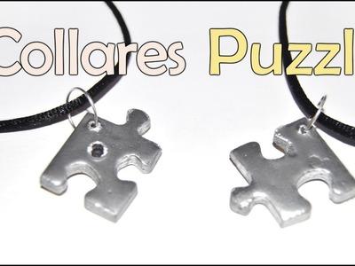 DIY: Como Hacer Collar De Piezas Puzzle Con Reciclaje - Brotes De Creatividad