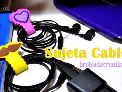 DIY : Manten Tus Cables Recogidos Con Estos Sujeta Cables De Goma Eva - Brotes De Creatividad